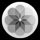 Logo apple photos black and white