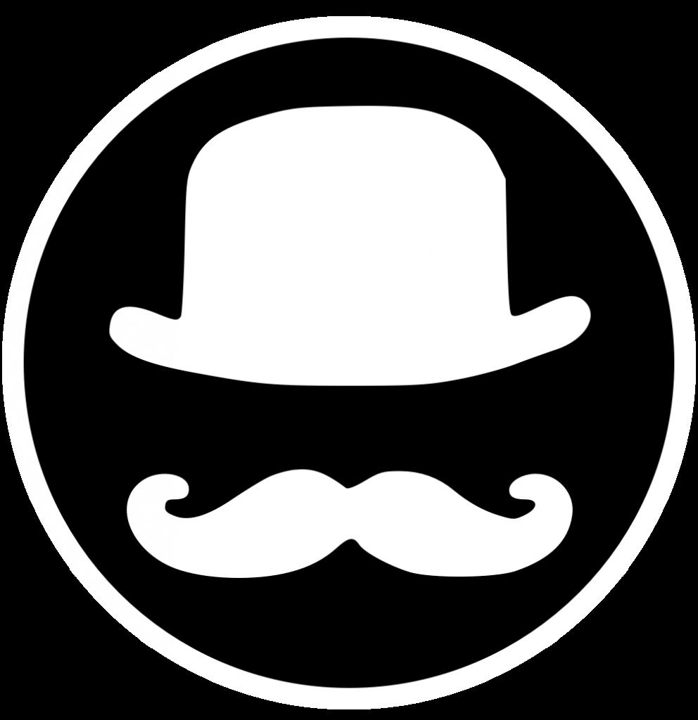 Logo black and white gentleman coders