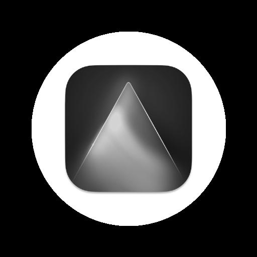 Logo luminar AI - noir et blanc